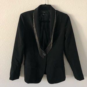 Black blazer with metal fringe